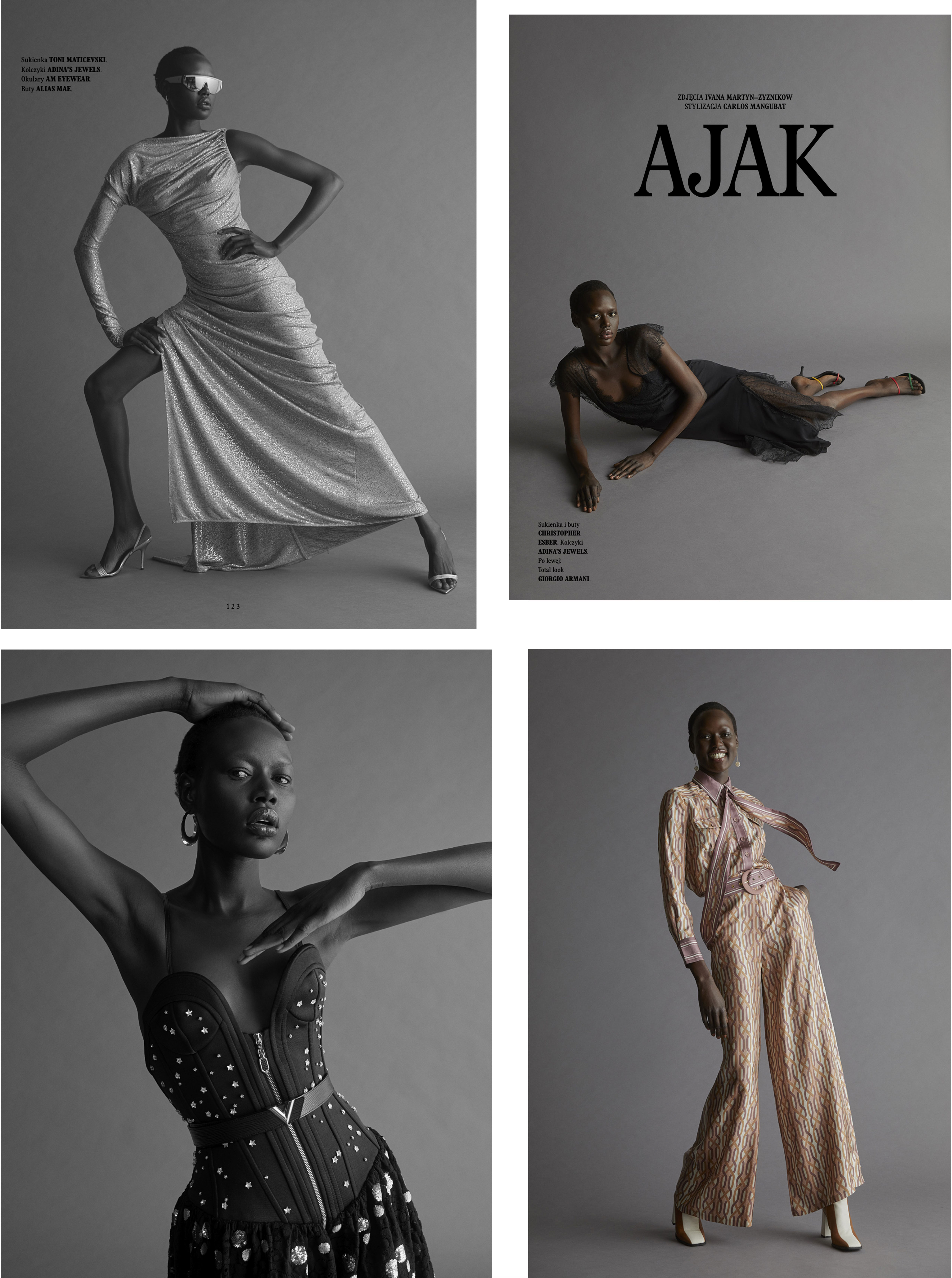 L'Officiel Poland Ajak Deng July 2020